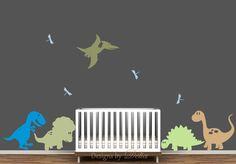 Nursery Decals with Dinosaur Mural