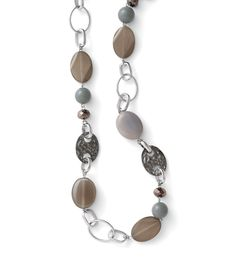 Zurich Necklace Travel to the Alps in this necklace decorated with genuine agate, glass and resin beads. Switch it up and wear as a belt.  $98 #accessories #jewelry