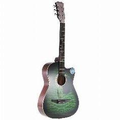 """[ $21 OFF ] ! 6-String Guitarra 38"""" Folk Acoustic Guitar Cutaway Basswood Side & Backboard 18 Fret Maple Fretboard For Music Lovers"""
