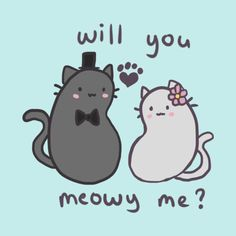 Cat Puns Series Will you Meowy me?