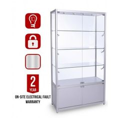 GB 1200 Glass Display Cabinet With Info