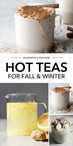 Fall and winter are all about hot, delicious, and soothing teas. In this post I bring you 15 of the best Hot Tea Drink recipes for your constant refreshment. Click to explore. Winter Tea Recipe, Milk Tea Recipes, Coffee Recipes, Homemade Tea, Autumn Tea, Winter Drinks, Yummy Drinks, Tea Drinks, Best Tea