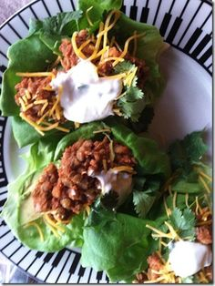 Ancho lentil tacos - good veggie option