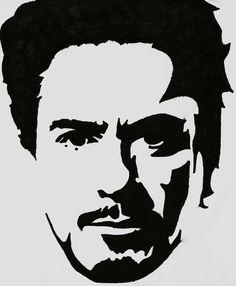 Tony Stark Stencil by ~blanksofar on deviantART