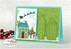 Holiday Home Spotlight Technique by SandiMac - Cards and Paper Crafts at Splitcoaststampers