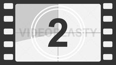 Hollywood Movie Countdown Timer Stock Animation [MOV & GIF]