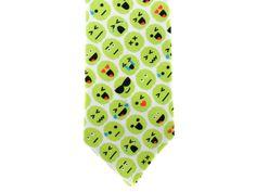Check out Skinny Tie - Brain Emoji - Green on handmadephd