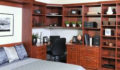 Home Office converts to a bedroom with a Murphy Bed