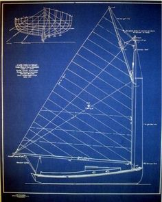 Vintage Cape Cod Boat blueprint