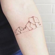 - Tattoo Spirit - Passion 001 -Zuhause - Tattoo Spirit - Passion 001 - 54 Ideas Origami Tattoo Elefante Ideas Origami Elephant Tattoo Small best Ideas for tattoo . Origami Tattoo, Origami Elephant Tattoo, Elephant Family Tattoo, Elephant Tattoo Design, Elephant Tattoos, Baby Elephant, Geometric Elephant Tattoo, Trendy Tattoos, Cute Tattoos