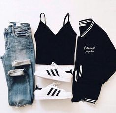 Cute outfits for school that are easy and trendy can be hard to put together sometimes. Laid back or fashionista, we have cute outfits for you! Teen Fashion Outfits, Mode Outfits, Outfits For Teens, Trendy Outfits, Winter Outfits, Summer Outfits, Womens Fashion, Fashion Ideas, Dress Outfits
