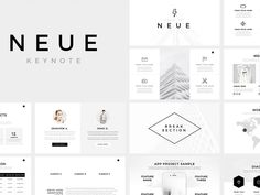 Neue Minimal Keynote Template by Templates
