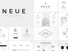 Neue Minimal Keynote Template by Templates