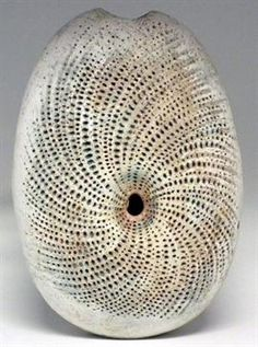Alan Wallwork vase With dotted peacock eye design, 43cm high Artists` Resale Right (droit de suit