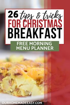 How To Plan Christmas Breakfast The Easy Way - Tate Beamson Christmas Morning Breakfast, Christmas Brunch, Breakfast Time, Green Christmas, Christmas Baking, Merry Christmas, Italian Dinner Recipes, Easy Dinner Recipes, Holiday Recipes