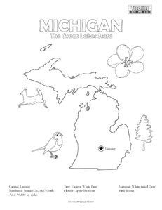 Vermont Coloring Page Learn quick facts with a fun coloring page