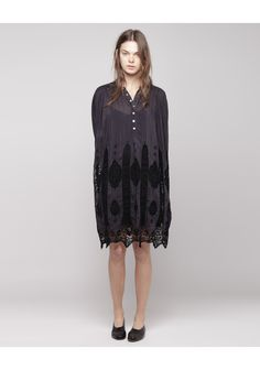 Shirtdress with #lace detailing