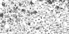 Hidden Folks - In-Game Screenshot - Camping Level