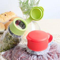 Caliente De Plástico Preservar Naranja Cocina Almacenamiento de Alimentos Bolsa de Sellado Tapa Househould