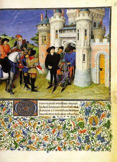 Barthélémy d'Eyck, La libération d'Arcitas (Théséide) (1460-70, Österreichische Nationalbibliothek, Wien)