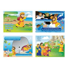 Jonah & the Whale Sticker Scenes, Sticker Scenes, Stickers & Labels, Teaching Supplies & Stationery - Oriental Trading
