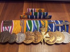 Recent medal set