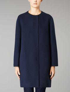 Max Mara VELIERO blu notte: Cappotto in lana.
