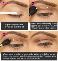 Ideas for Brown Eyes Makeup Step by Step | ... Beauty Diary Blog: Step by Step Smokey Brown Eyeshadow Tutorial