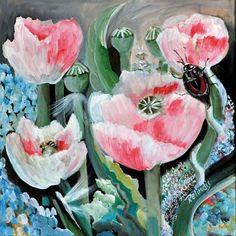 Galerie mp tresart   Galerie d'art contemporain » Coquelicots roses   Relindis (Gloria Colomb)