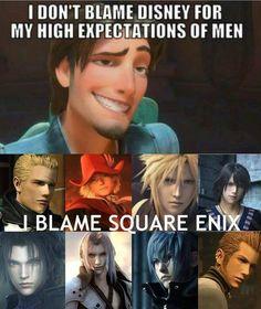 Square Enix and the Final Fantasy franchise. Final Fantasy Xv, Final Fantasy Funny, Final Fantasy Artwork, Fantasy Love, Fantasy Series, Fantasy World, Zack Fair, Fandoms, Character Design