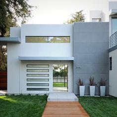 fachadas para casas pequeñas de dos pisos