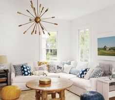 Got kids and pets? Keep accent pieces high and out of harm's way to create comfort and class.