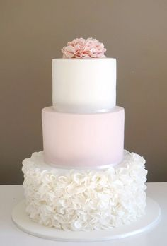 3 Tier Cake Decorating Ideas New Pink and White Wedding Cake Very Pretty 3 Tier Cake with Ruffle – badt.us : 3 Tier Cake Decorating Ideas New Pink and White Wedding Cake Very Pretty 3 Tier Cake with Ruffle – badt. 3 Tier Wedding Cakes, Buttercream Wedding Cake, White Wedding Cakes, Cool Wedding Cakes, Elegant Wedding Cakes, Beautiful Wedding Cakes, Gorgeous Cakes, Wedding Cake Designs, Pretty Cakes