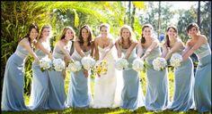 Blue Dresses, White Flowers