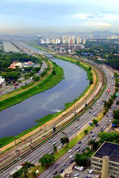 Aerial View, Sao Paulo, Brazil.