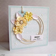 #Card for #mother #day in pastel blue colours from #theMiNiart Elusive Dreams Collection by #jaMajka