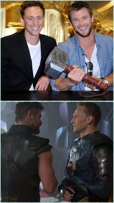 lolawashere: Tom Hiddleston and Chris Hemsworth then and now.
