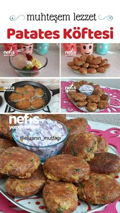 Nefis Patates Köftesi (Muhteşem Bir Lezzet) Videolu Detaylı Anlatım – Nefis Yemek Tarifleri How to make Yummy Potato Meatball Recipe Here is a description of this recipe in the book of people and photos of the experimenters. Potato Recipes, Fish Recipes, Turkish Recipes, Ethnic Recipes, Yummy Recipes, Cheeseburger Recipe, Potato Patties, Good Food, Yummy Food