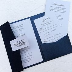 The Sandy Pocketfold Invitation - 25 invitation sets