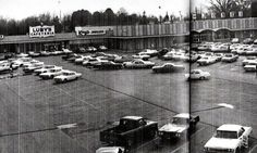 #Vintage Oaklawn Village #ShoppingCenter #Texarkana TX. Former Belk-Jones is now a BigLots. The Luby's Cafeteria and Kay Jewelers spaces are now occupied by a flea market.