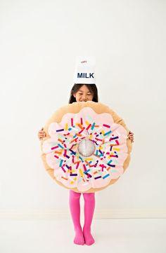 DIY No-Sew Felt Donut Halloween Costume for Kids