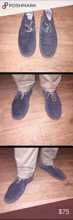 Desert Boots by Bata Desert Boots by Bata bought from Europe. Steel blue color. In great condition! Worn a few times with normal wear. Lots of life left in these quality European shoes! Made in Croatia.                                                                                    EU size 43 Shoes Chukka Boots