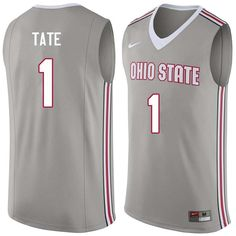87fa2917567 Men  1 Jae Sean Tate Ohio State Buckeyes College Basketball Jerseys  Sale-Gray