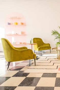 High-shine velvet upholstery and slender modern legs make this a beautiful as well as comfortable addition to your room. Photo by Alexandra Gater. #VelvetFurniture #EclecticSpace #ModernLivingRoom #VelvetChair Velvet Furniture, The Embrace, High Quality Furniture, Green Velvet, Lounge Chairs, Upholstery, Legs, Bedroom, Modern