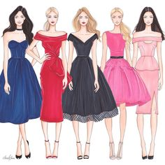 Type's of fshn of model's Dress Design Drawing, Dress Design Sketches, Dress Drawing, Fashion Design Drawings, Fashion Sketches, Fashion Drawing Dresses, Fashion Illustration Dresses, Moda Fashion, Fashion Art