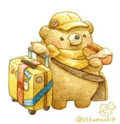 Cute Bear Drawings, Cute Kawaii Drawings, Kawaii Art, Animal Drawings, Bear Character, Character Design, Polar Bear Drawing, Cute Kawaii Animals, Kawaii Illustration
