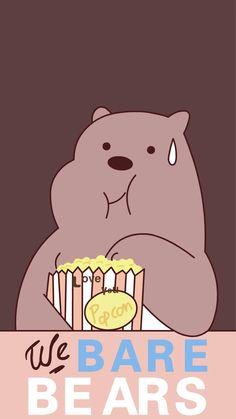 Kaws Iphone Wallpaper, Bear Wallpaper, Cute Anime Wallpaper, Cute Cartoon Wallpapers, We Bare Bears Wallpapers, We Bear, Aesthetic Art, Cute Stickers, Disney