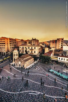 Greece, Monastiraki square at sunset in Athens Great Places, Places To See, Beautiful Places, Greece Photography, Mycenae, Spring Break Trips, Athens Greece, Greece Travel, Greek Islands