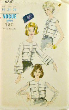 Vintage 60s Vogue 6641 Blouses by VintageNeedleFinds on Etsy,