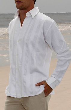 Mens attire beach wedding or for non-formal wear too. Great for when you want a family photo at the beach.